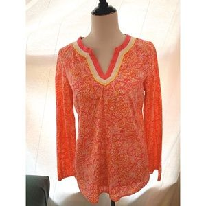 Lilly Pulitzer Ten Speed bicycles tunic top pink